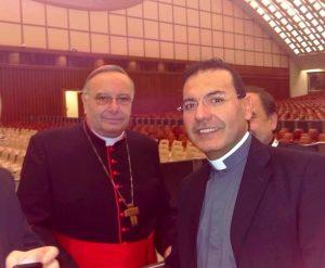 don Giuseppe Cipolletta con il cardinale Francesco Montenegro, presidente di Caritas Italiana