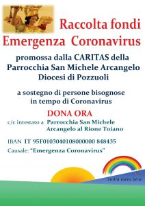 raccolta fondi caritas parrocchiale san michela arcangelo toiano pozzuoli